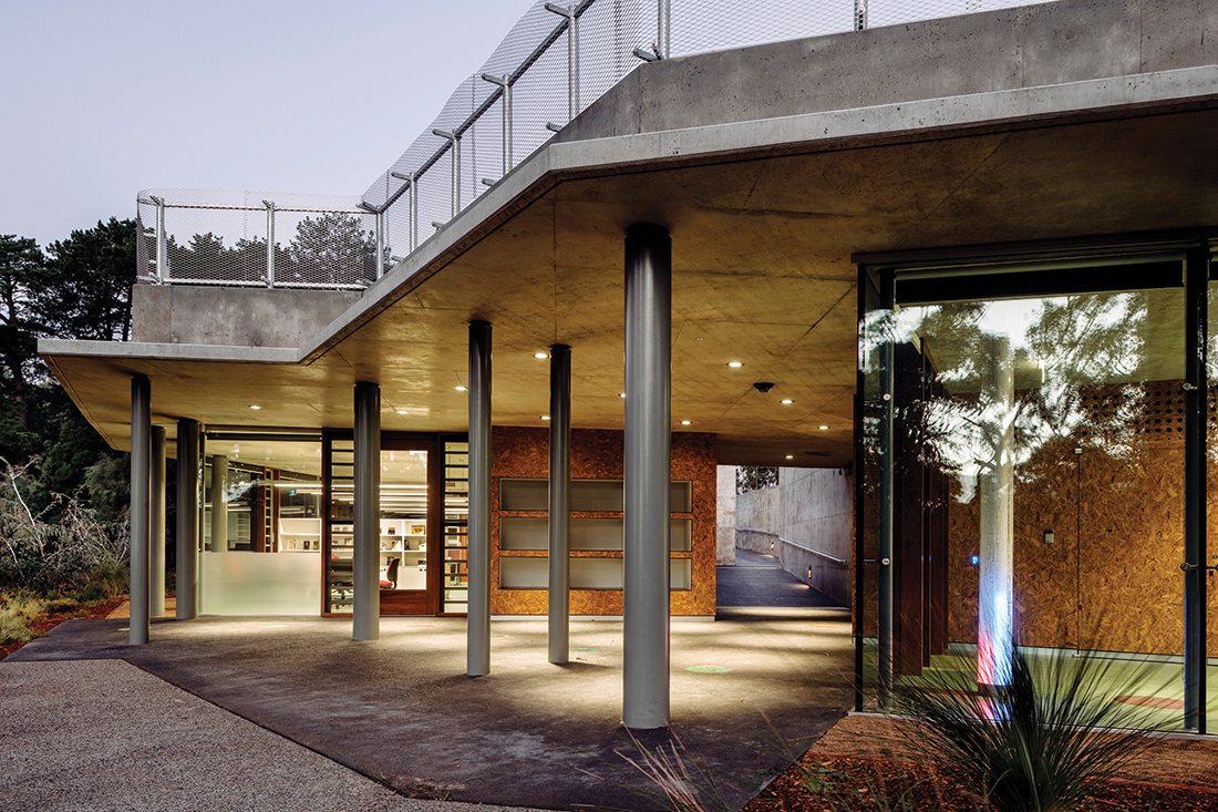 Kings Park Environmental Education Awareness Centre by architect Geoff Warn, photography by Martin Farquarshon
