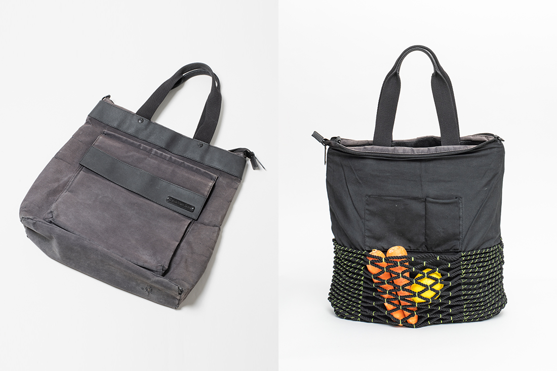 Singaporean artist Tiffany Loh turns an old bag inside out and gives it a new face.