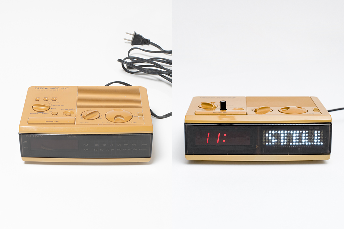 Clement Zheng's repairs a clock radio and includes audio stories written by the owners about their time overseas.