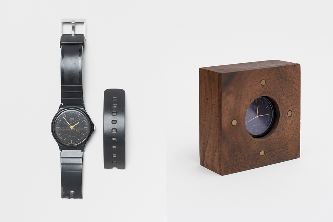 An old watch is given a new lease of life as a clock by Lanzavecchia + Wai.